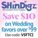 Save 10% on ShindigZ Wedding Party Supplies