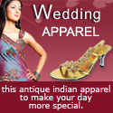 Wedding apparel from India for online shopping
