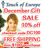 THANKSGIVING BLACK FRIDAY 6 Day Sale Touch of Euro