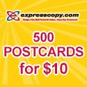 500 Postcards for only $10 - expresscopy.com
