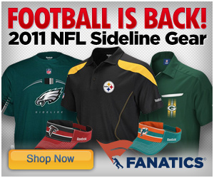 Get your 2011 NFL Sideline Gear at Fanatics