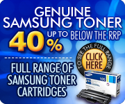 Save up to 40% on genuine Samsung toner