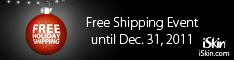 iSkin- Free Worldwide Shipping for the Holidays