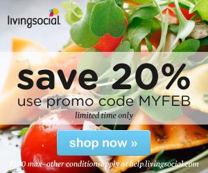 Save 20% on LivingSocial!