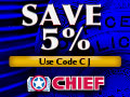 5% off at CHIEFsupply.com - voucher code CJ