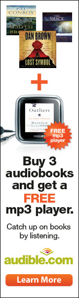 Buy 3 audiobooks and get a FREE mp3 player.