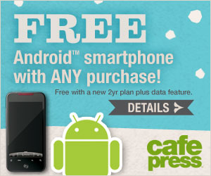 Free Phone promo from CafePress