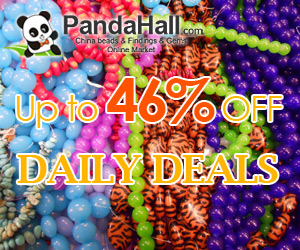 Up to 46% off daily on jewelry beads, acrylic beads, gemstone beads,rhinestone beads, ect.