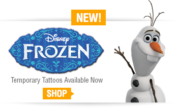 Disney Frozen temporary tattoos at TattooSales.com