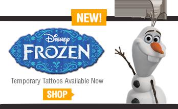 Disney Frozen temporary tattoos at TattooSales.com