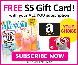 FREE Target or Amazon Gift Car...