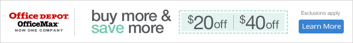Buy More and Save more! Save up to $40! Exclusions apply.