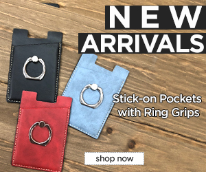 Image for NEW! Stick-on Card Pocket w/ Ring Holder