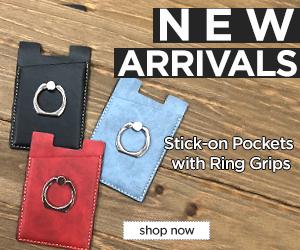 Image for NEW! Stick-on Card Pocket w/ Ring Holder