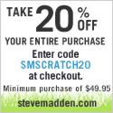Steve Madden Spring Scratch Save 20%