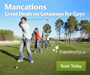 Great deals on getaways for guys! Click Here.