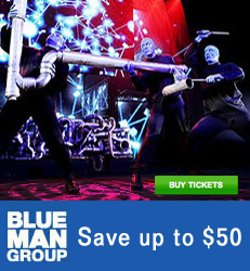 Blue Man Group - Save over $50 per ticket!