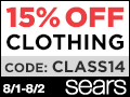 15% Off Clothing at Sears Today and Tomorrow!