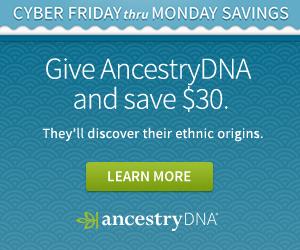 AncestryDNA test sale - save at Genealogy.Blackfriday