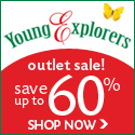 Save Up to 60% at Young Explorers Outlet