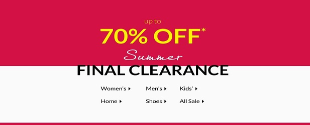 Final Summer Clearance – Up To 70% Off*