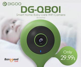 Coupon Price $29.99 For Digoo DG-QB01 Flexible Baby Security Camera
