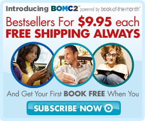 Get books for $9.95 plus FREE shipping with BOMC2