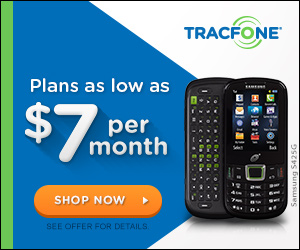Plans as low as $7 per month with TracFone promo codes