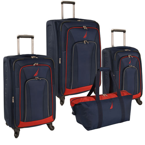Nautica Timoneer 4 Piece Spinner Luggage Set Now Only $240.47 Org. $1,140.00 Plus Free Shipping. Use Promo Code Use Promo Code NTTM at Checkout