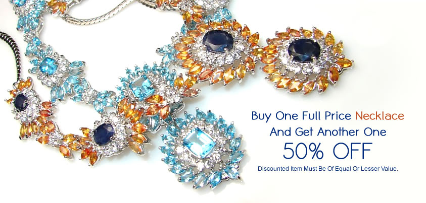 This Week Deal at www.SilverRushStyle.com: Buy One Necklace - Get Another One 50% OFF