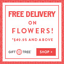 Free Delivery on Flowers