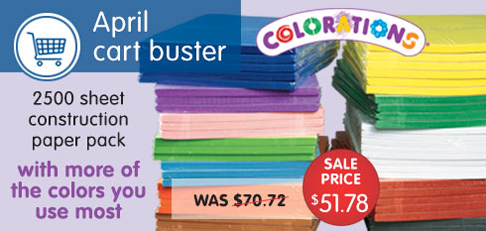SAVE 30% On Classroom Construction Paper Pack - 2500 Sheets In Favorite Colors + Get Free Shipping O