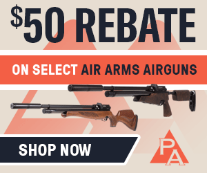 $50 rebate on Air Arms airguns