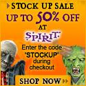 Save 50% on costumes & decor!
