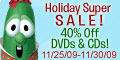 VeggieTales Holiday Super Sale - 40% off DVD & CD