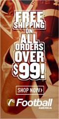 Free Shipping on all orders over $99 FootballAmerica.com