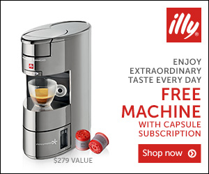 Francis Francis espresso machine from illy - only $125 with convenient home capsule delivery