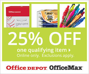 25% off one qualifying item. Online Only.