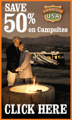 50% off on campsites published rate.