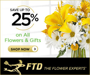Save up to 25% on all Flowers and Gifts 300 x 250