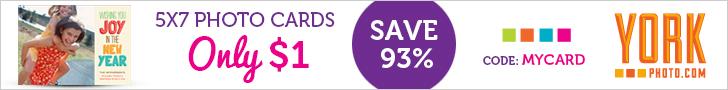 20 5X7 Custom Photo Cards – Just $1 – Save 13.99