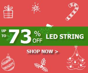 Save Up To 73% on LED String Lights at lightingever.co.uk