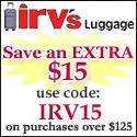 Save $15 off $125 with Coupon IRV15