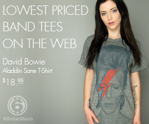 David Bowie T-Shirt $18.95!