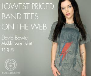 David Bowie T-Shirt $18.95!
