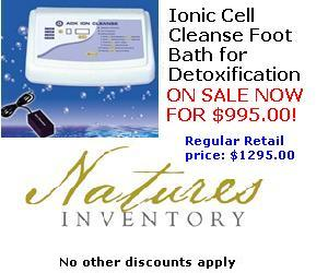Ionic Cell Cleanse Footbath for Detoxification