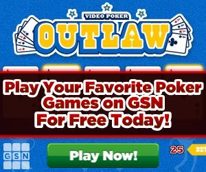 Play GSN's new Video Poker game Outlaw Video Poker