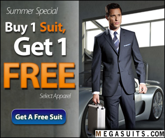Get 20% Off Men's Suits - Use Code: MSSF11