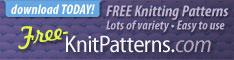 Free knitting patterns - download today!