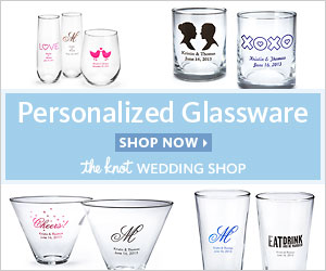 Personalized Glassware at The Knot Wedding Shop